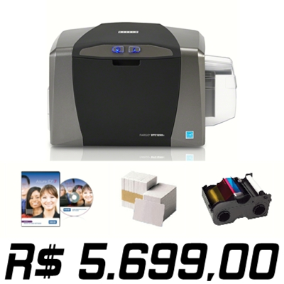Promoção Imperdível !!! Impressora Fargo DTC1250e Single-Sided com Kit de Suprimentos - Pagamento com Boleto Bancário Banco do Brasil - Equipamento Novo com 36 meses de Garantia.